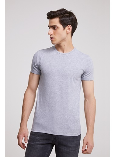 D'S Damat Slim Fit T-Shirt Gri